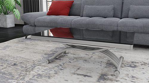 שולחן קפה - טרנספורמר שחור ניקל