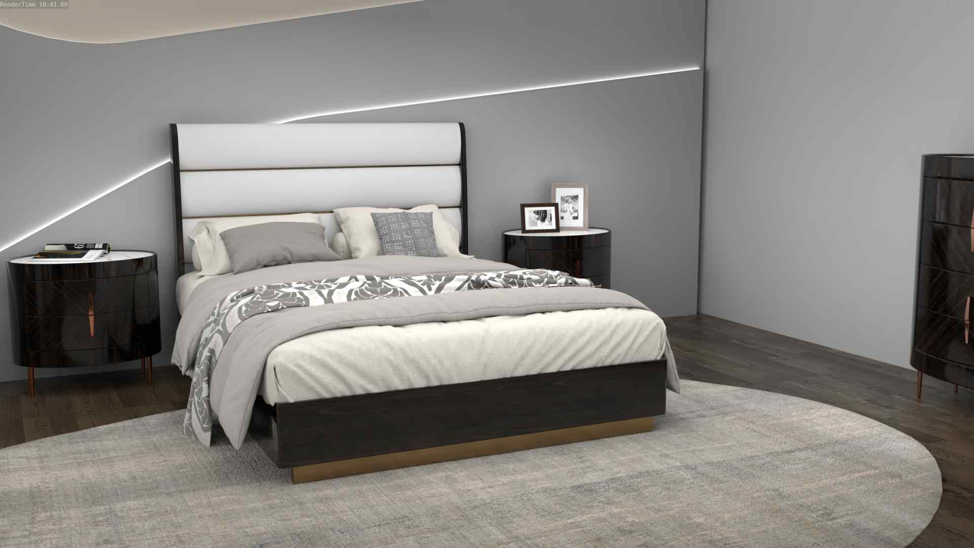 Спальня с в стиле ретро