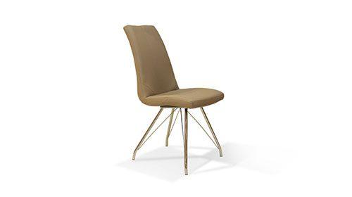 כיסא עור צבע בז'