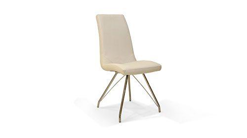 кожаный стул белого цвета