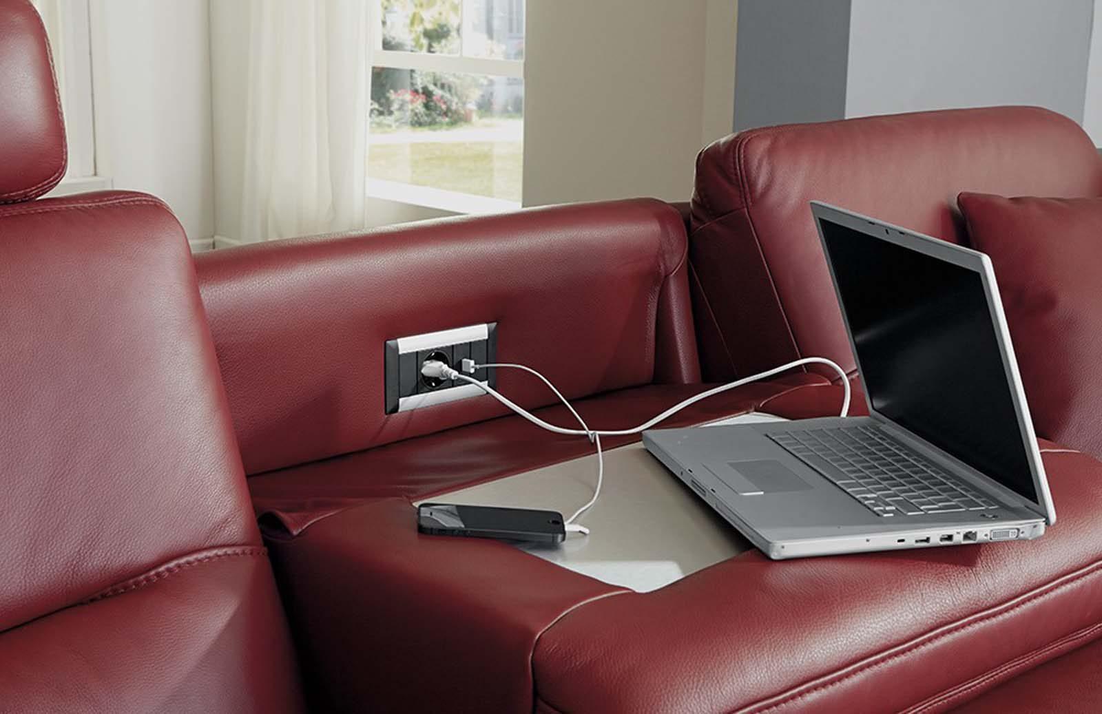 hukla ספה מעור Hi-Tech פרמיום