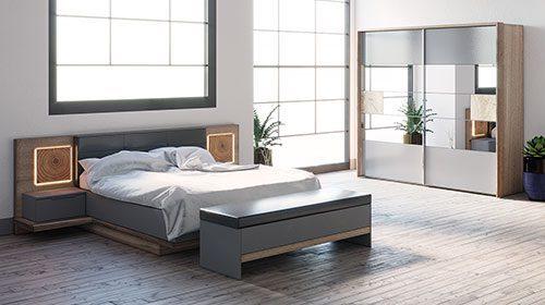 חדר שינה עם תאורה livorno спальня с подсветкой
