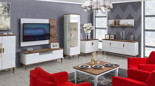 סט רהיטים לסלון בסגנון ווינטג'