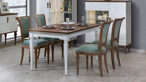 סט שולחן אוכל וכסאות