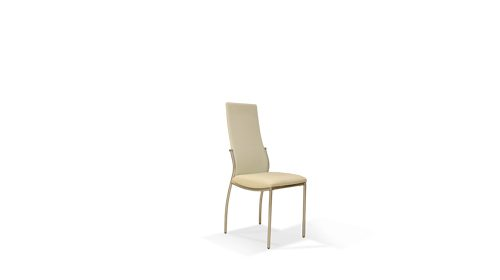 arma white כיסא עור צבע לבן