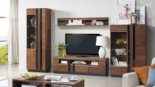 סט רהיטים לסלון מעץ