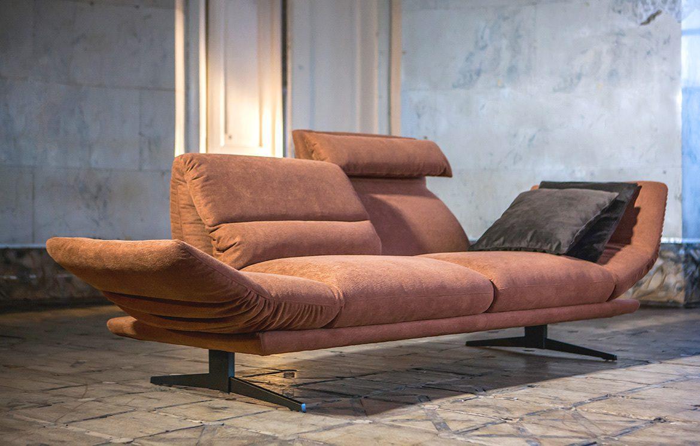 ספת עור דו-מושבית בסגנון מודרני