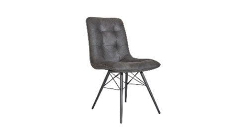 кожаный стул серый