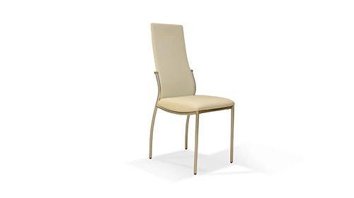 כיסא עור צבע לבן