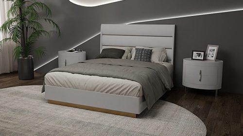 חדר שינה לבן בסגנון רטרו