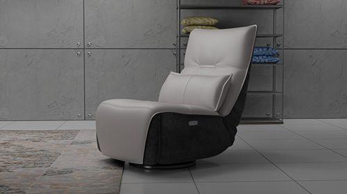 кресло с реклайнером в стиле модерн