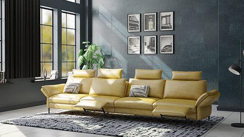 ספה מודרנית עם 4 רקליינרים