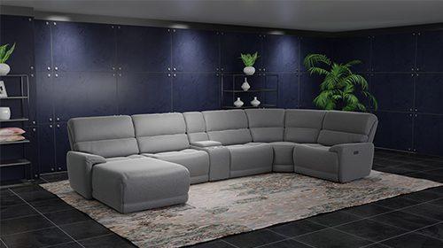 модульный диван с реклайнерами